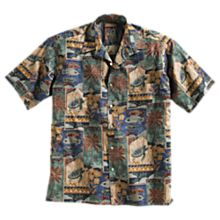 Men's Cotton Aloha Travel Shirt