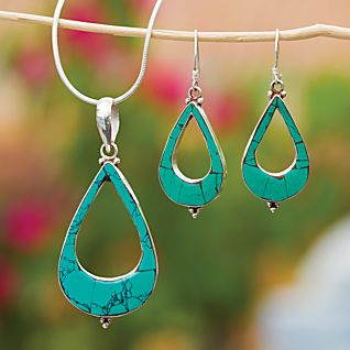 View Turquoise Teardrop Necklace image