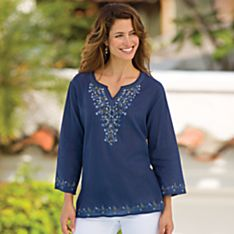 100% Cotton Jodphur Blue Tunic