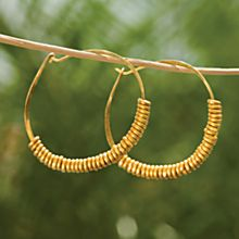 Handcrafted Giriama Hoop Earrings
