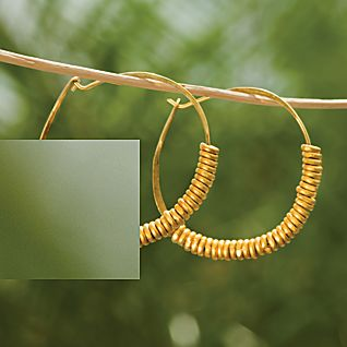 View Giriama Hoop Earrings image