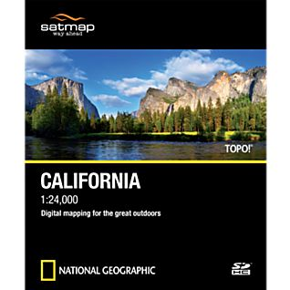 TOPO! SD Card: California