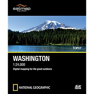 Satmap National Geographic TOPO! Washington SD Card