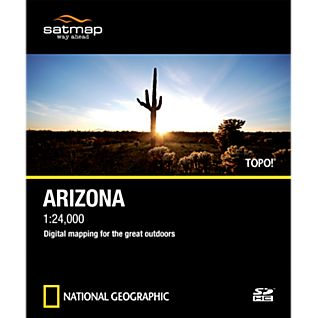 Satmap National Geographic TOPO! Arizona SD Card