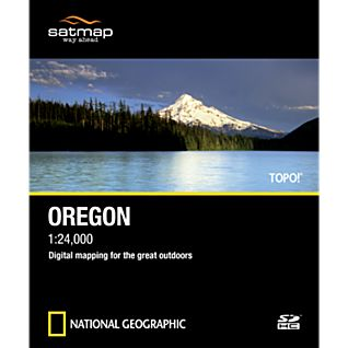 Satmap National Geographic TOPO! Oregon SD Card