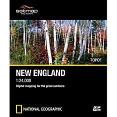 Geographic Map of New England