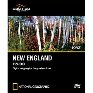 Satmap National Geographic TOPO! New England SD Card