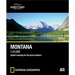 Satmap National Geographic TOPO! Montana SD Card