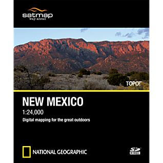 photo: Satmap National Geographic TOPO! New Mexico SD Card us mountain states map application