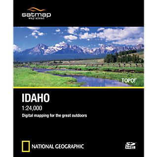 Satmap National Geographic TOPO! Idaho SD Card