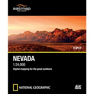 photo: Satmap National Geographic TOPO! Nevada SD Card us mountain states map application