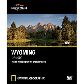 photo: Satmap National Geographic TOPO! Wyoming SD Card us mountain states map application