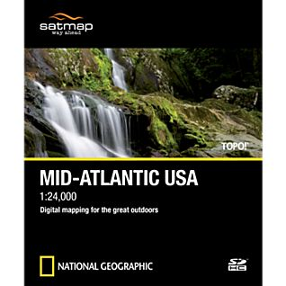 Satmap National Geographic TOPO! Mid Atlantic USA SD Card