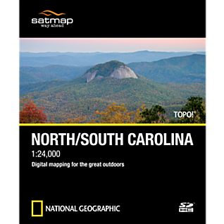 photo: Satmap National Geographic TOPO! North/South Carolina SD Card us south map application