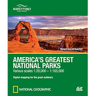 photo: Satmap National Geographic Trails Illustrated: America's Greatest National Parks  SD Card