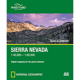 National Geographic  Trails Illustrated: Sierra Nevada SD Card