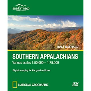 Satmap National Geographic Trails Illustrated: Southern Appalachians SD Card