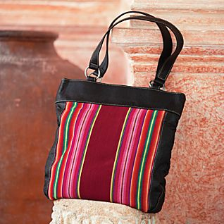 Striped Aguayo Bag