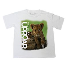 African Lion Cub ''Cause An Uproar'' Shirt - Youth Sizes