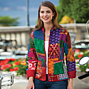 Silk Sari Patch Jacket