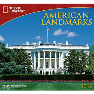 2012 National Geographic American Landmarks Wall Calendar