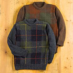Men's Scottish Tartan Wool Sweater