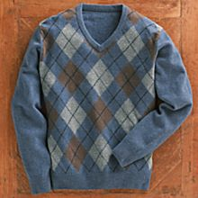 Men's Scottish Lamb's-Wool Argyle Sweater
