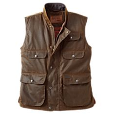 Mens Canvas Vest