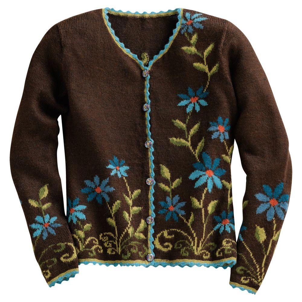 Blue Aster Alpaca Sweater