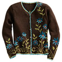 Hand-Painted Aster Alpaca Sweater