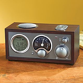 Vintage Clock Radio with Weather