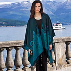French Paisley Travel Shawl, Made in France