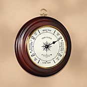 Cherry-finished Tide Clock
