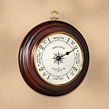 Wooden Cherry-Finished Tide Clock