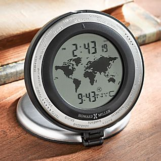Aluminum World Travel Clock