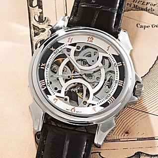 View Men's Automatic Skeleton Watch image