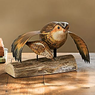 View Hand-carved Bobwhite Quail and Chick image