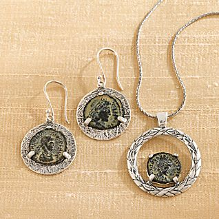 View Constantine Coin Earrings image