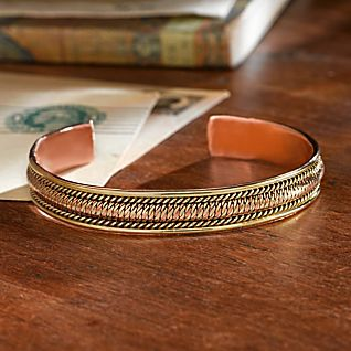 View Handcrafted Himalayan Copper Bracelet image