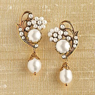 View Caserta Palace Pearl Earrings image