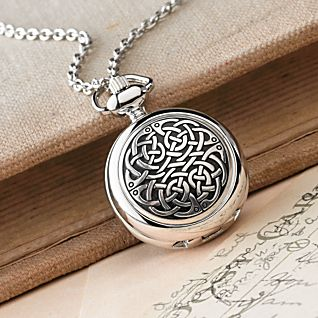 Celtic Knot Pewter Pendant Watch