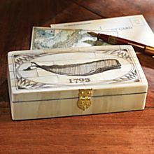 Traditional Scrimshaw Whale Box
