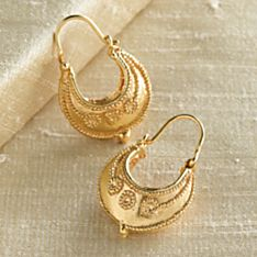 Handcrafted Etruscan Hoop Earrings