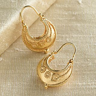 Etruscan Hoop Earrings