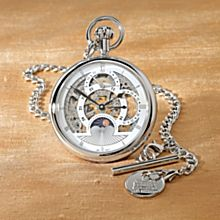 Sun-and-Moon Mechanical Pocket Watch