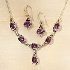 Handcrafted Newar Amethyst Necklace