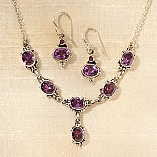 Newar Amethyst Necklace