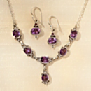 Newar Amethyst Earrings