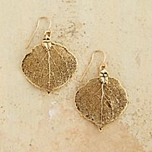 Handcrafted Aspen Leaf Earrings