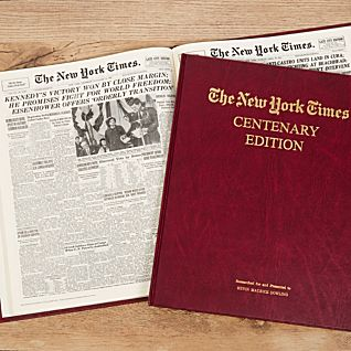 Personalized New York Times Centenary Folio